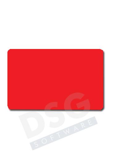 Karta PVC czerwona